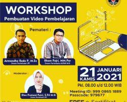 Prodi MIK Melaksanakan Workshop Video Pembelajaran pada 21 Januari 2021
